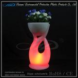 POT di fiore materiale del giardino del PE per la mobilia del LED