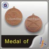 Medalhão enorme do cobre da inserção da estrela