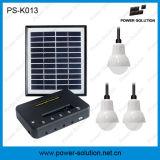 Sistema de iluminación solar con el cargador del panel solar de 11V 4W y del teléfono del USB para de interior