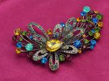 大きい花の多彩なラインストーン亜鉛合金の宝石類のブローチ