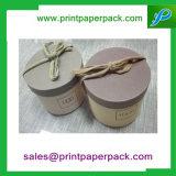 Projetar a caixa de presente redonda das flores de papel do cartão da câmara de ar do chapéu luxuoso