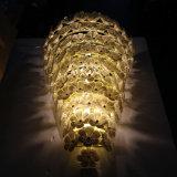 Europees Hotel Decoratief van de Witte Lamp van de Muur van de Bloem van het Glas