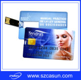 Customized Full Color PrintingのSelling熱いCredit Card USB Flash Drive