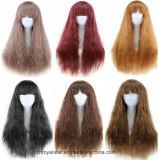 Parrucche lunghe dei capelli ricci di nuovo scoppio accurato di colore di alta qualità