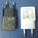 백색 또는 Black Color 5V 500mA EU Plug Universal USB Power Adator