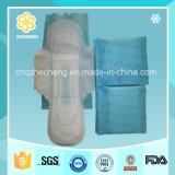 Serviettes hygiéniques bleues d'impression/rondelles sanitaires