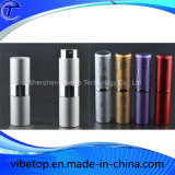 Mini frasco de alumínio do atomizador do pulverizador do perfume reenchido com parte inferior