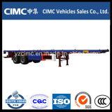 Cimc 3 Flachbett-Schlussteil der Wellen-40FT mit hohem Tention Stahl