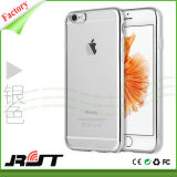 Cassa molle del telefono delle cellule della pagina Premium TPU di placcatura di modo per il iPhone 6/6s più (RJT-0104)