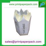 Caja de embalaje de la cartulina de encargo de Polggonal Polygonous Difform