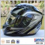 高品質の販売(FL101)の黒い太字のオートバイのヘルメット