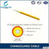 高品質の屋内2-24コアGJFJV光ケーブルの価格LSZHのデュプレックスファイバーの光ケーブル