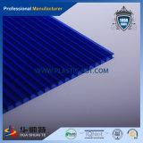 Feuille opale bleue de cavité de mur de jumeau de PC de polycarbonate