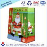 Zak van het Document van de Gift van het Document van kraftpapier de Afgedrukte voor Vrolijke Kerstmis
