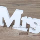 Ornements en bois d'alphabet de Mme Signs Letters Wedding Supplies de Mr&