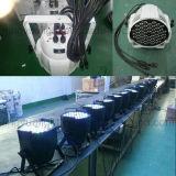 la IGUALDAD de 54PCS RGBW 3W LED puede las luces de DJ del disco