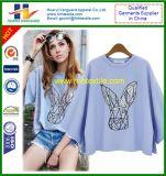 T-shirt de chemise de modèle de dames MI d'impression neuve de coton