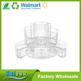 Organisateur extensible d'acrylique de vanité de cylindre de compartiments multiples durables