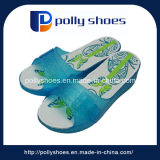 水晶ゼリーのサンダルPVC女性の靴の印刷の靴の中敷