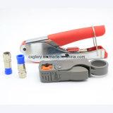 Коаксиальный кабель Rg59 RG6 делает комплект водостотьким гофрируя инструмента обжатия стриппера провода разъема f