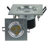 Diodo emissor de luz Down Light de Silver Adjustable 6W Grille da loja