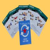 Dos cartões educacionais feitos sob encomenda dos cartões de jogo da boa qualidade cartões instantâneos