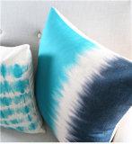 Almohadilla azul nórdica del amortiguador de la decoración del sitio del algodón elegante de Sofathick