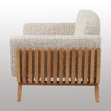 木の家具柔らかいファブリックソファー