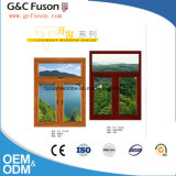 Guichet en verre isolant de couleur de guichet de vide en verre fixe en aluminium fixe en bois de Windows