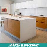 Mobília econômica dos gabinetes de cozinha do armário da laca da melamina (AIS-K066)