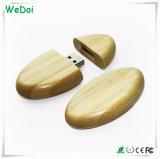 Vara de madeira da memória do USB com garantia da capacidade total e do 1 ano (WY-W16)