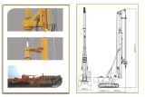 Hf128Aの完全な油圧抗打ち工事の装備、杭打ち機、抗打ち工事装置45mの深さ600-1600mmの直径