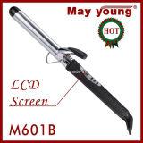 M601b perfeccionan el bigudí de pelo del barril del cromo del diseño en barril plateado cromo