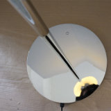 Lámpara de suelo derecha redonda decorativa del acero inoxidable del hotel moderno