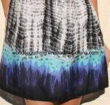 Knit de contraste avec la robe sexy tissée de femmes d'été de mode de tissu