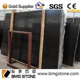 Galette de marbre en bois noire, noir en bois, marbre noir chinois de Serpeggiante