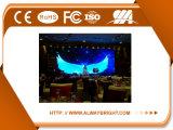 Alta visualización de LED de alquiler publicitaria de interior del brillo P6