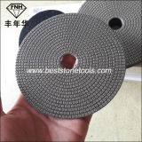 Almofada de polonês Electroplated abrasiva flexível do diamante da qualidade para o vidro de pedra