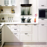 PVC Membrane Small Kitchen Designs с Marble Countertop