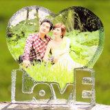 Vues en cristal bon marché de photo de coeur pour le cadeau &Wedding de faveur d'anniversaire