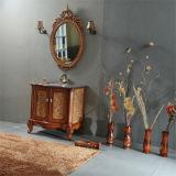 Cabina de cuarto de baño de madera sólida del diseño simple con el espejo