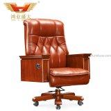 Cadeira executiva feita chinesa da cor branca de couro giratória da forma (HY-KT108)
