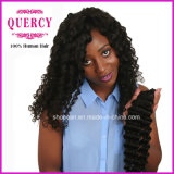 Quercy Hair Grade 8A High Quality 100% 브라질 Virgin Remy Deep Wave Curly Human Hair Extension (W-088)