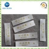 Escritura de la etiqueta colorida de la ropa del poliester de la alta calidad de encargo (JP-CL106)