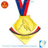 Kundenspezifische preiswerte Goldmedaille des Hockey-3D mit Zink-Legierung