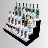 Estante de visualización de acrílico de la tapa contraria de China Lightbox para las botellas, expendidora automática de la visualización de la posición