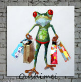Kids 룸을%s Canvas Funny Frog Portrait Oil Painting Canvas Oil Painting에 손 Painting Art Canvas Modern Painting Abstract Painting Art Painting