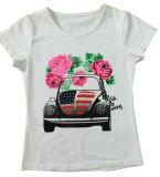인쇄 케이크 (SV-020)를 가진 아이들 소녀 t-셔츠에 있는 형식 소녀 조끼
