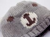 100% أكريليكيّ يحبك دبّ قبعة لأنّ أطفال