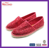Ramie Shoes Hard Soles金属レースの女性
